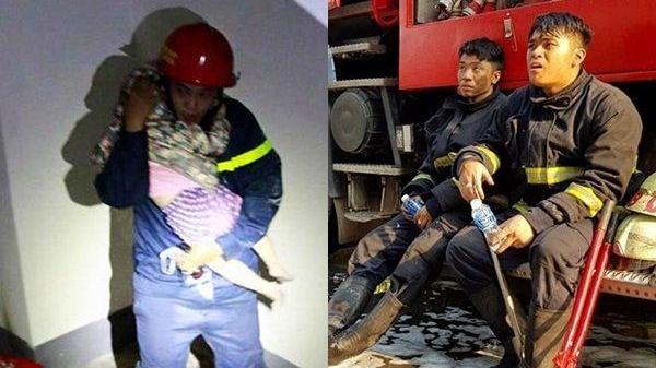 """Lính cứu hỏa toàn """"nói dối"""", anh ấy ôm đứa bé vỗ về: """"Không sao đâu con, chỉ là diễn tập thôi mà..."""""""