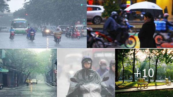 Thời tiết 10 ngày tới: Miền Bắc trời chuyển mưa, nhiệt độ giảm mạnh và trở lạnh vào cuối tuần