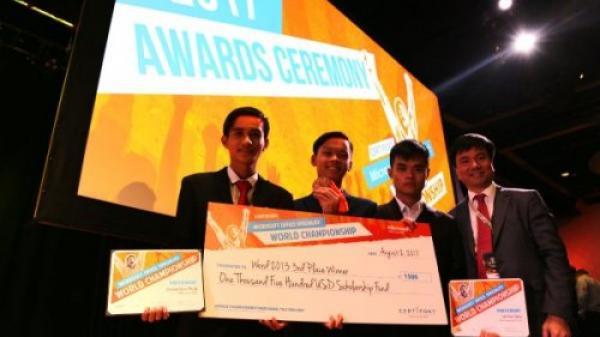 Học sinh trường chuyên THPT chuyên Lê Hồng Phong - Nam Định đoạt Huy chương Đồng Tin học Văn phòng thế giới 2017