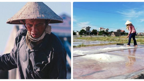 Nam Định: Trời nắng như đổ lửa, diêm dân vẫn dầm mình kiếm 50.000 đồng/ngày