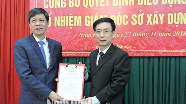 Công bố Quyết định của UBND tỉnh về công tác cán bộ đối với các sở: Xây dựng; Tài nguyên và Môi trường