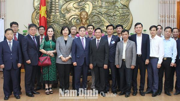 Đoàn đại biểu Thành phố Gyeongsan (Hàn Quốc) tìm hiểu cơ hội đầu tư tại tỉnh Nam Định