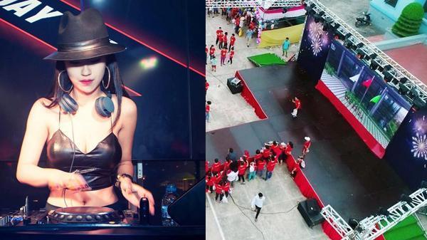 Không khí ngay lúc này tại Nam Định: Liên tục lắp đặt màn hình LED cực KHỦNG, mời cả DJ nổi tiếng để cùng người dân quẩy tưng bừng tiếp lửa đội nhà