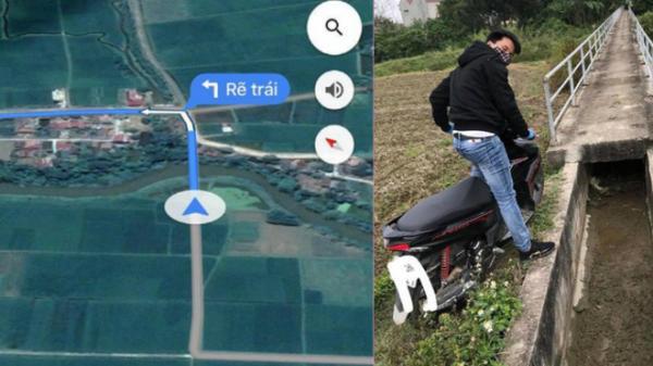 Tin tưởng vào Google Maps, người đàn ông suýt rơi xuống mương trong ngày đầu năm