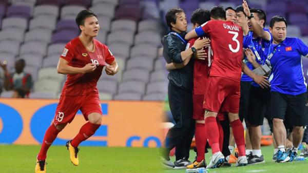 Quang Hải ăn mừng cực nhiệt khi tái hiện 'siêu phẩm cầu vồng' tại Asian Cup 2019