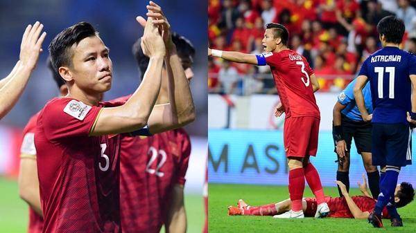 """Đội trưởng Hải Quế mạnh mẽ gạt đi nước mắt, hô hào đồng đội """"đá quên mình"""" với Nhật Bản"""