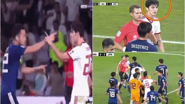 Video: Cầu thủ Nhật Bản h ỗn ch iến với tiền đạo Iran để bảo vệ đồng đội