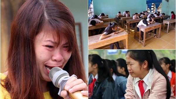 Buổi chào cờ đầu năm mới chìm trong nước mắt ở ngôi trường có 6 học sinh đ.uối nước thương tâm