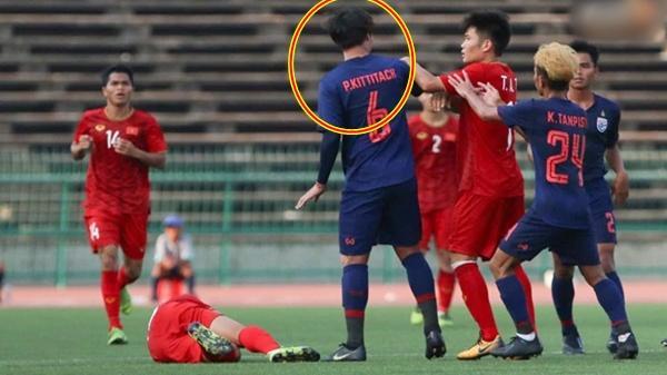 Tuyển thủ U22 Thái Lan gây ph.ẫn n.ộ khi đ.ạp thẳng mặt cầu thủ U22 Việt Nam