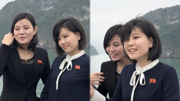 """Ngắm những """"bóng hồng"""" của đoàn Triều Tiên trên vịnh Hạ Long, chẳng cần son phấn vẫn xinh đẹp mộc mạc"""