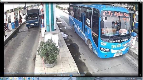 Xử lý các tài xế Thái Bình đ.âm xe vào rào chắn trạm thu phí BOT Mỹ Lộc