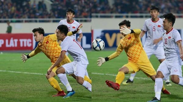 U23 Việt Nam – Indonesia: Bùi Tiến Dũng mắc s.ai lầm nghiêm trọng ở khung thành, Thành Chung nhăn nhó khó chịu