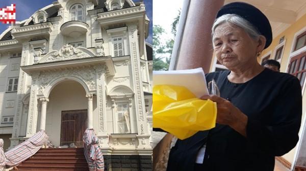 """Bà cụ """"bán rau"""" gần 80 tuổi sở hữu căn biệt thự 60 tỷ giữa làng quê nghèo khiến CĐM ngỡ ngàng"""