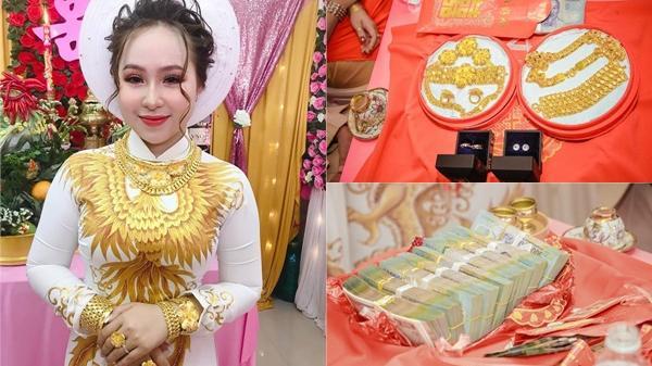 Cô dâu 2K sáng nhất hôm nay: D.ạm ngõ nhận tiền mặt gần 1 tỷ, 'khuyến mại' thêm 13 cây vàng kèm nhẫn kim cương
