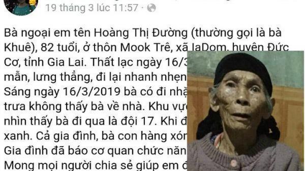 Gia Lai: Phát hiện th.i th.ể cụ bà mang theo nhiều tiền vàng m.ất tích cách 10km