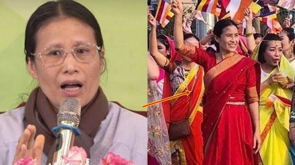 B.ất ch.ấp bão dư luận, bà Phạm Thị Yến vẫn xuất hiện với trang phục màu đỏ tại Đại lễ Phật Đản 2019