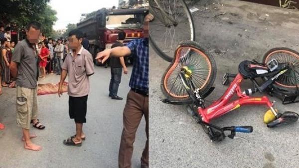 Bị xe ô tô bán tải t.ông t.rúng xe đạp, bé trai 7 tuổi t.ử v.ong, chị ruột ng.uy kị.ch