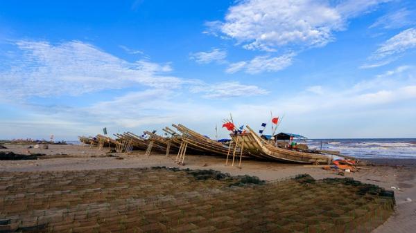 Vẻ đẹp yên bình trên vùng biển Nam Định