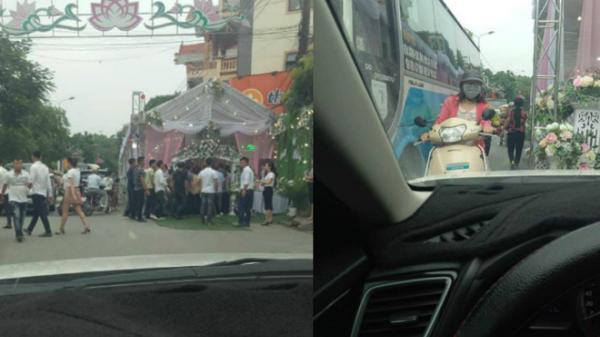Nam Định: Dựng rạp lấn chiếm lòng lề đường và màn tr.anh c.ãi qu.yết l.iệt khiến nhiều người 'ng.ứa mắt'