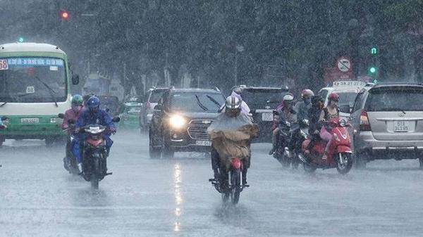 Chiều tối và đêm nay, các tỉnh Bắc Bộ xuất hiện đợt mưa lớn kéo dài