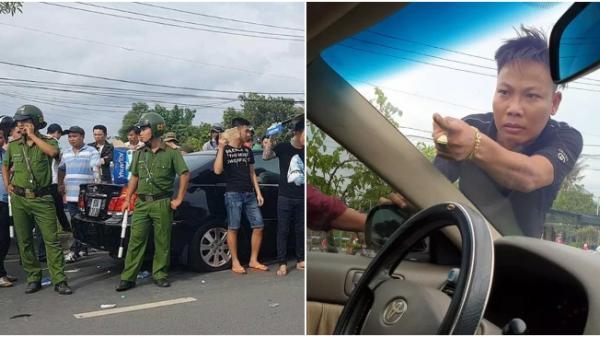 """Tuấn """"nhóc"""" đ.ập ô tô đang bị vây chặn, yêu cầu mở cửa """"đòi x.ử"""" trung tá công an"""