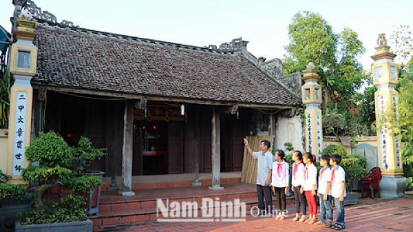 """Ý Yên (Nam Định): Các """"địa chỉ văn hóa"""" giáo dục truyền thống trường tồn với thời gian"""