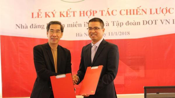 Lễ ký kết hợp tác chiến lược giữa Nhà đăng ký tên miền iNET và Tập đoàn DOTVN INC (Hoa Kỳ)