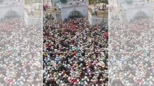 Kinh hãi biển người tham gia tang lễ một giáo sĩ ở Ấn Độ: Đông nghịt, không có không gian để thở