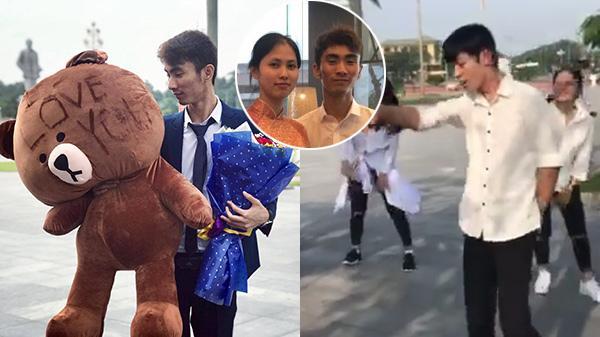 """Chàng trai Quảng Bình vượt 200km, dàn dựng màn tỏ tình """"chất hơn nước cất"""" với cô gái xinh đẹp"""