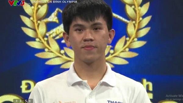 Nam sinh xứ Thanh chiến thắng ngoạn mục tại cuộc thi tháng Olympia