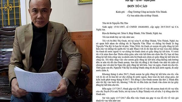 """Nghệ An: Cho mượn giấy đăng ký kết hôn, người dân bỗng nhiên biến thành... """"chủ nợ"""""""