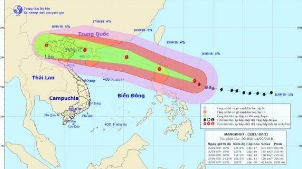 Khẩn: Siêu bão Mangkhut gây sóng cao 14m, ảnh hưởng 27 tỉnh, thành phố