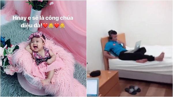 Hải Quế nhớ nhung cô công chúa điệu đà, Tiến Dũng, Quang Hải học bài chăm chỉ sau giờ tập luyện tại Hàn Quốc