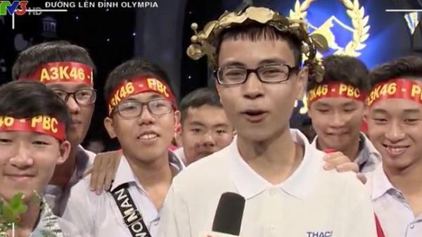 Nam sinh xứ Nghệ hát 'Rung chuông vàng' đạt hơn 300 điểm nhất Olympia