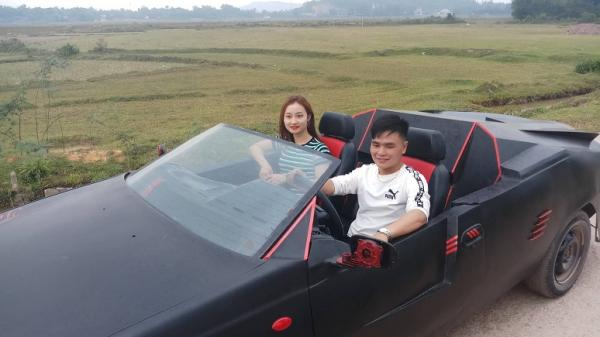 """Chàng trai Hà Tĩnh tự chế """"siêu xe"""" mui trần có một không hai để rước dâu"""