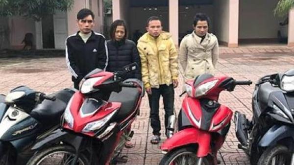 Hà Tĩnh: B.ắt khẩn cấp nhóm 'siêu tr.ộm' xe máy liên tỉnh