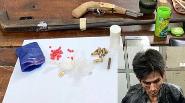"""Nghệ An: Bắt đối tượng buôn m.a t.úy trang bị vũ khí """"nóng"""" cố thủ trong lán"""