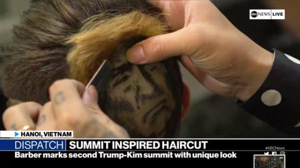 Thợ tóc 9X xứ Nghệ khắc hình Tổng thống Donald Trump lên kênh ABC của Mỹ