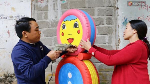 Chuyện người nông dân xứ Nghệ biến phế liệu bỏ đi thành đồ chơi cho trẻ em
