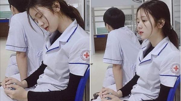"""Khoảnh khắc nữ y tá quê Nghệ An ngủ gật khiến nhiều chàng """"xin ch.ết"""""""