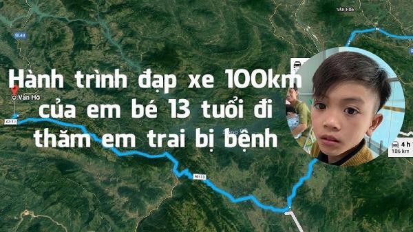 Hành trình cậu bé 13 tuổi ở Sơn La đạp xe 100km vượt 15 con dốc thăm em