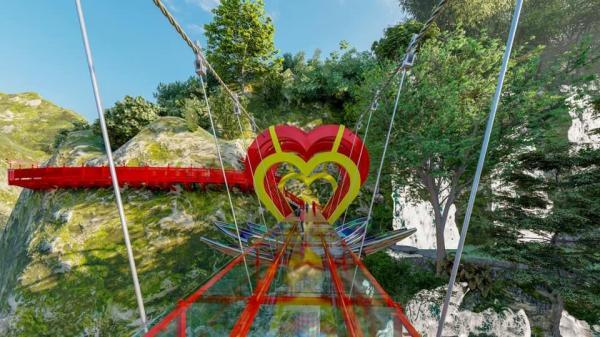 Mộc Châu sắp có cầu kính tình yêu 5D, tạo 30 hiệu ứng khác nhau