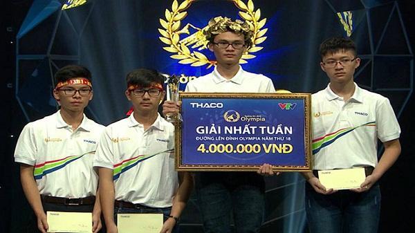 10X Nghệ An dẫn đầu cả 4 vòng thi tuần Olympia
