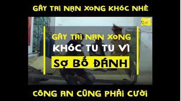 """Cậu bé Nghệ An 14 tuổi khóc nhè vì bị CSGT giữ xe và sợ bố """"đập chết"""" vì gây tai nạn"""