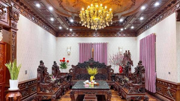 """Choáng ngợp biệt thự rộng cả nghìn m2, """"phủ"""" gỗ Lào từ đầu đến chân của đại gia kinh doanh đồ gỗ giàu nức tiếng"""