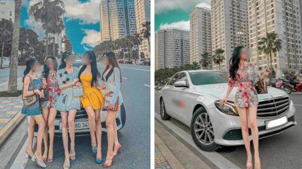 """Hội """"hot girl tài chính"""" pose dáng: Không nằm dài khoe body mướt mát thì cũng phải đứng ké bên ô tô thật oách"""