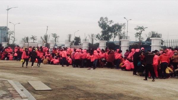 Ninh Bình: Ngày thứ hai, công nhân tiếp tục ngừng việc tập thể đòi quyền lợi