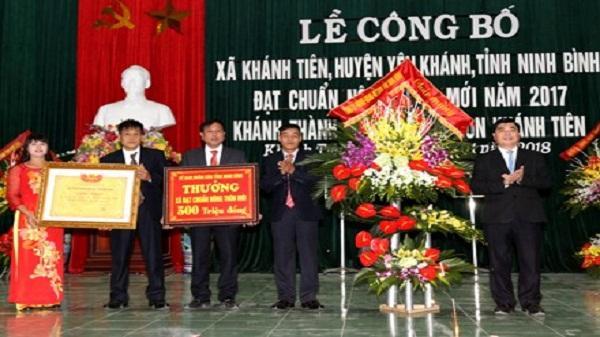 Xã Khánh Tiên đón Bằng công nhận xã đạt chuẩn nông thôn mới