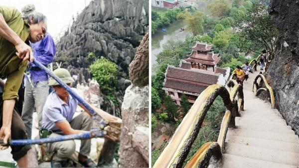 """Ninh Bình: Tự nguyện tháo dỡ công trình trái phép """"khủng"""" trong Di sản Tràng An"""