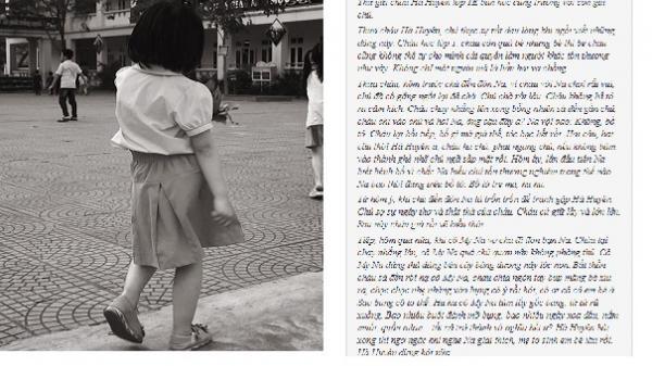 """Tâm thư """"nghiêm trọng"""" ông bố gửi bạn học lớp 1 của con gái: Chỉ một lời cháu nói, vợ chồng chú ôm nhau khóc rưng rức"""